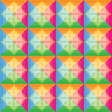 Los cuadrados modelan el fondo retro del color Ilustración del Vector
