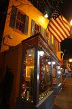 Los Cuates Mexican Restaurant in Georgetown. Photo of popular neighborhood mexican restaurant in georgetown of washington dc at night on 12/12/17. This is called royalty free stock photo