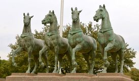 Los cuatro caballos de la apocalipsis Fotos de archivo