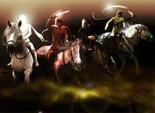 Los cuatro jinetes de la apocalipsis Imagenes de archivo