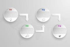 Los cuatro pasos modernos redondearon infographics de la cronología Imagen de archivo libre de regalías