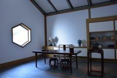 los cuatro tesoros en un estudio chino Imágenes de archivo libres de regalías