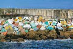 Los cubos de la memoria, Llanes, Asturias, España Imágenes de archivo libres de regalías