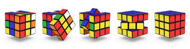 Los cubos de Rubik Imágenes de archivo libres de regalías