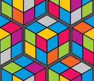 Los cubos geométricos resumen el modelo inconsútil, fondo del vector 3d stock de ilustración