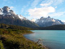 Los Cuernos. Massif in Torres del Paine National Park, Chile stock photo