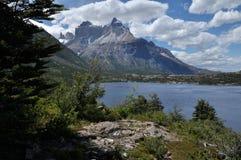 Los Cuernos. Torres del Paine stock photo