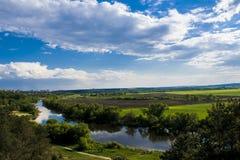 Los cuernos del río del campo Imagen de archivo libre de regalías