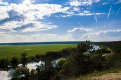 Los cuernos del río del campo Fotografía de archivo libre de regalías