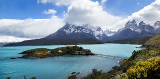Los Cuernos, Las Torres National Park, Chile Stock Photos