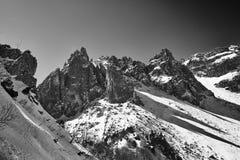 Los cuernos. Mountains in torres del paine park stock image