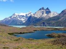Los Cuernos, Torres del Paine National Park, Chile. Rock massif of Los Cuernos, Torres del Paine National Park, Chile royalty free stock photography
