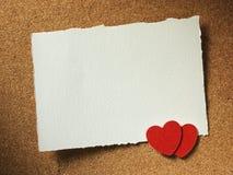 Los días de fiesta cardan con amor y corazón de la palabra Foto de archivo libre de regalías