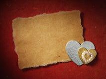 Los días de fiesta cardan con el corazón Foto de archivo libre de regalías