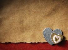 Los días de fiesta cardan con el corazón Fotografía de archivo libre de regalías