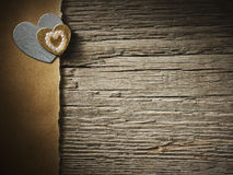 Los días de fiesta cardan con el corazón Imágenes de archivo libres de regalías