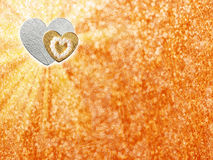 Los días de fiesta cardan con el corazón como símbolo del amor Foto de archivo libre de regalías