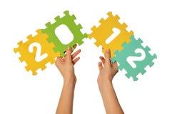Los dígitos 2012 Imágenes de archivo libres de regalías