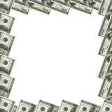 Los dólares enmarcan con c Foto de archivo