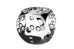 Los dados 3D del diamante hicieron cristalino Imágenes de archivo libres de regalías