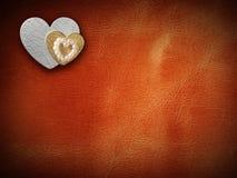Los días de fiesta cardan con el corazón como símbolo del amor Imágenes de archivo libres de regalías