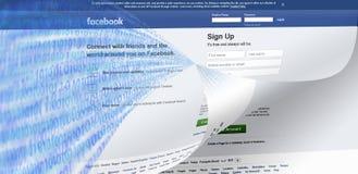 Los datos de Facebook se escapan imagen del concepto imágenes de archivo libres de regalías