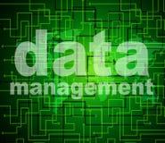 Los datos de gestión representan autoridad y el manejo de la organización ilustración del vector