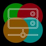 Los datos del servidor atormentan - el icono de la memoria interna ilustración del vector