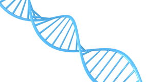 Los datos genéticos atan el concepto de una molécula azul de la DNA del doble hélice, lazo inconsútil de la animación 3D almacen de video