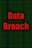 Los datos seguridad violan y de Internet ilustración del vector