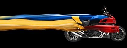 Los deportes bike - los rastros de la velocidad - el ejemplo 3D Imagen de archivo libre de regalías