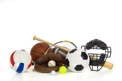 Los deportes engranan en blanco Fotografía de archivo libre de regalías