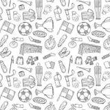 Los deportes modelan con estilo del drenaje de los símbolos del fútbol/del fútbol a disposición Imagen de archivo
