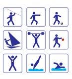 Los deportes stylize iconos fijaron uno en vector Fotos de archivo
