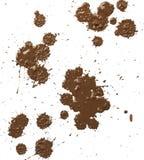 Los descensos del fango salpican Fotografía de archivo libre de regalías