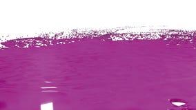Los descensos grandes de la pintura púrpura caen en la superficie blanca y es mancha, dejar manchas blancas /negras grandes y la  stock de ilustración