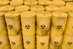 Los desechos radioactivos barrels - la basura nuclear que descarga concepto Libre Illustration