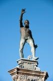 Los detalles de la estatua en Frederiksborg se escudan área en Hilleroed Fotos de archivo