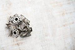 Los detalles de la máquina de coser, máquina de coser parte, los accesorios Vario Foto de archivo