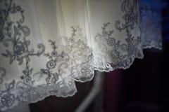 Los detalles de los vestidos de boda Imagen de archivo