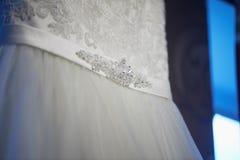 Los detalles de los vestidos de boda Fotografía de archivo