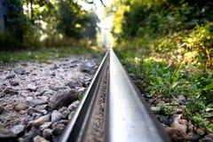 Los detalles del pistas ferroviarias Fotos de archivo libres de regalías