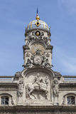 Los detalles del Terreaux ajustan en la ciudad de Lyon Imagen de archivo libre de regalías