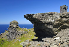 Los detalles irlandeses de los acantilados son luz del nummer Fotografía de archivo