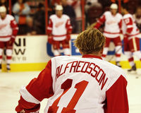 Los Detroit Red Wings remiten a Daniel Alfredsson Fotos de archivo libres de regalías