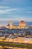 Los di Santa Maria del Fiore de la basílica en Florencia, Italia Foto de archivo
