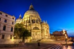 Los di Santa Maria della Salute, la basílica de la basílica de St Mary de la salud, Venecia Imagenes de archivo
