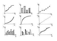 Los diagramas y las cartas y el otro dibujo del infographics Fotos de archivo