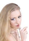 Los diamantes son mejor amigo de una muchacha Imagen de archivo libre de regalías