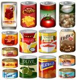 Los diferentes tipos de comida adentro pueden libre illustration